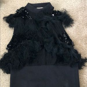 fringe and sequin top
